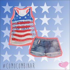 #ComoCombinar  #Bandeirismo  Que tal uma regata + shortinho pra esse calor?  #CodigoGirls #Fashion #Tendencia