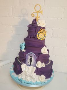 Rain Cake, Happy Birthday Prince, Prince Cake, Prince Purple Rain, Roger Nelson, Prince Rogers Nelson, Amazing Cakes, Yummy Treats, Birthday Ideas