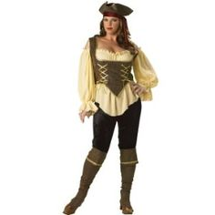 Plus Size Elite Rustic Pirate Lady Costume for Adult Plus Size Elite Rustic Pirate Lady Costume for Adult Who said there's no such thing as a lady pirate? This Elite Rustic Pirate Lady costume is your way to prove the boys wrong this Ha Costume Halloween, Plus Size Adult Halloween Costumes, Female Pirate Costume, Plus Size Costume, Adult Costumes, Costumes For Women, Pirate Costumes, Women Halloween, Halloween Outfits