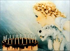 """Louis Icart - """"Happy Birthday."""""""