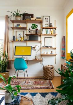 Cool 68 Cool and Creative Small Home Office Ideas. More at https://trendecor.co/2017/10/17/68-cool-creative-small-home-office-ideas/