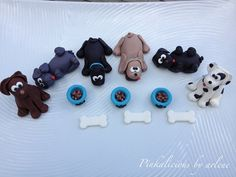 edible puppy dog cupcake cake toppers by sweetpinkbyarlene on Etsy