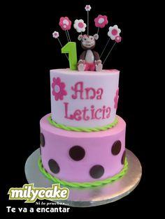 Monkey Girl First Birthday Cake but w/o the monkey