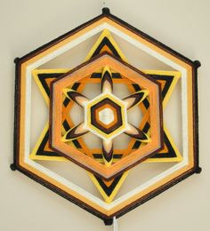 Bee's Knees a 12 inch 6-sided Ojo de Dios by JaysMandalas on Etsy