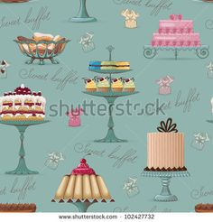 Cakes And Pastries Stock Illustrations & Cartoons | Shutterstock