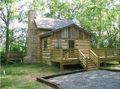 Luray, VA 1700's log cabin, sky lights
