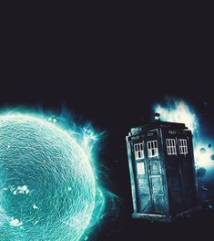 Beautiful picture of the tardis>> ah yes the TARDIS about to fall into a cold star.... Still beautiful though.
