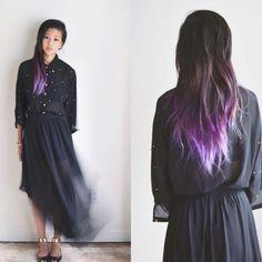 I think I want to dip dye my hair...