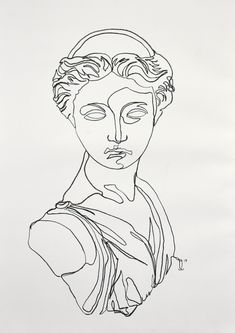 A one line charcoal drawing of an Artemis statue. A one line charcoal drawing of an Artemis statue. Kunst Inspo, Art Inspo, Line Drawing, Painting & Drawing, Charcoal Drawing, Drawing Hair, Gesture Drawing, Drawing Faces, Art And Illustration