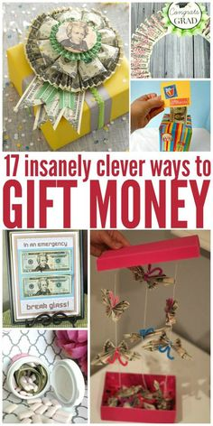 Graduation Gifts Discover 17 Insanely Clever Possibly Annoying Ways to Give Money For those people who ask for money for birthday Christmas and graduations here are some cute clever unique ways to grant that wish. Birthday Money Gifts, Grad Gifts, Unique Graduation Gifts, 18th Birthday Gifts For Boys, Graduation Presents, College Graduation Gifts, Unique Birthday Gifts, Homemade Gifts, Diy Gifts