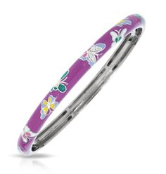 Butterfly Purple Bangle Bracelet from the Belle Etoile Constellations Collection