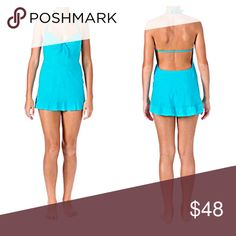 🅿️LUS Cloud Blue Swimdress! NWT! Gorgeous bright summer blue. Swim bottom and hygienic liner attached! Boutique Swim One Pieces