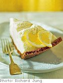 Lemon Cream Tart with Gingersnap Crust: This dessert must be refrigerated for six hours before serving. [click for recipe]