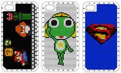 Mario Cross Stitch iPhone Case