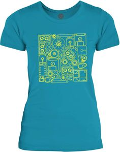 Big Texas The Old Technology (Yellow) Womens Fine Jersey T-Shirt