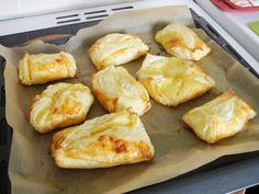Frisch aus dem Ofen geholt/Quarktaschen