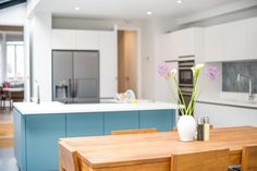 Side Return Extension on a Victorian Terraced House in Highbury, N5, Greater London, Kitchen Extension Design Ideas, Kitchen Layout Ideas, Open-plan Dinning Area