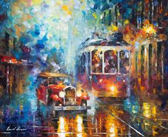 Old San Francisco by Leonid Afremov by Leonidafremov.deviantart.com on @DeviantArt I looked through the lenses and it was like looking through stained glass