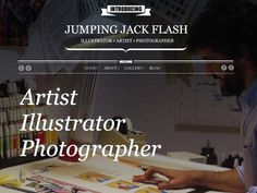 Moonfruit Template - Jump Jack #website #design