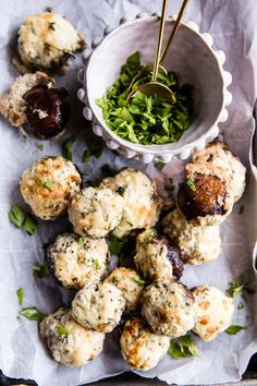 Get the recipe: herbed goat-cheese-stuffed mushrooms Easy Make Ahead Appetizers, Healthy Appetizers, Appetizer Recipes, Healthy Recipes, Goat Recipes, Simple Appetizers, Vegetarian Recipes, Snack Recipes, Dinner Recipes