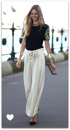 These flowy pants are perfect for the weekend cocktail party. 30 Popular Fashion Trends