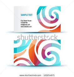 Colorful rainbow puzzle pieces forming circle vector graphic business cards templates stock photos images pictures shutterstock reheart Images