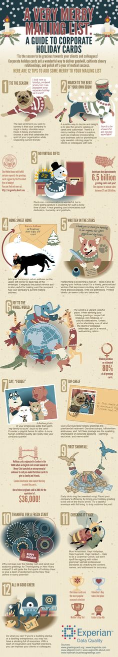 A Very Merry Mailing List #infographic #Holiday #GreetingCard #Business
