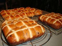 Hot Cross Buns - Bread Machine from Food.com: This is the BEST and EASIEST recipe for hot cross buns. I make a few batches of them every Easter and they never last long.