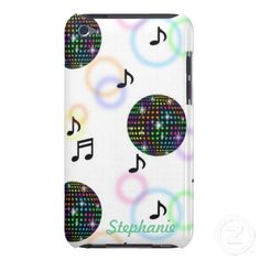 Disco I Pod Barely There Case ~   A fun design for your iPod. Personalize with your name or initials.