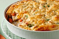 When a chicken pot pie bubbles and oozes this much creamy comfort in every bite, you know you're home.
