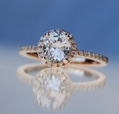 definitely my idea of an engagement ring! 1.06ct round Champagne Peach Sapphire by EidelPrecious, $1300.00