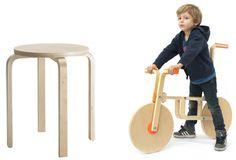 IKEA-hacken: maak een kinderfiets van een krukje