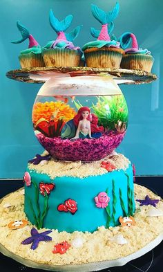 It doesn't matter how old you are, a princess cake is always going to tap into some of your longest-held daydreams. These Disney princess cakes prove there's a Disney Princess Birthday Cakes, Disney Themed Cakes, Mermaid Birthday Cakes, Disney Birthday, Disney Cakes, Birthday Cake Girls, Little Mermaid Cakes, Theme Cakes, Birthday Ideas