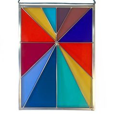 """DEBBIE BEAN STAINED GLASS PANEL RAINBOW RAYS 