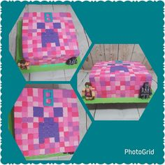 how to craft a cake minecraft pink creeper cake by kizzy s cakes cakes 4898