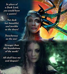 Oooh I love this!!! Galadriel/Hela