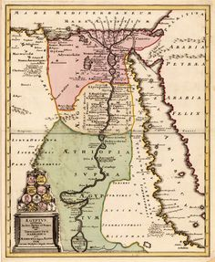 Egypt & The Red Sea 1719 #map #egypt #redsea