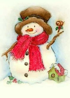 .snowman painted