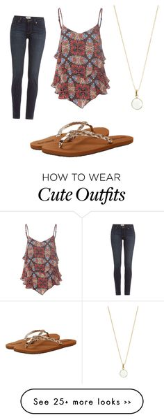 """Cute casual outfit."" by lestridge on Polyvore featuring moda, Glamorous, Paige Denim, Accessorize e Reef"