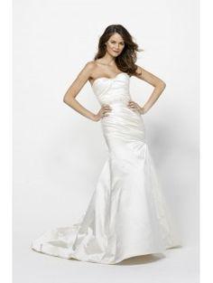 Mermaid Sweetheart Sweep Train Silk and Satin Bridal Gown
