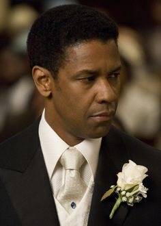 Denzel Washington in Silk and Jewelled Tie Pin