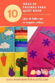 Quiet Book Ideas - Libro de Fieltro Felt Quiet Books, Sensory Toys, Montessori, Kids Rugs, Diy Crafts, Children, School, Ideas Para, Baby Books