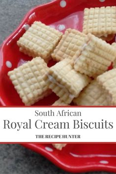 A South African recipe for Royal Cream biscuits