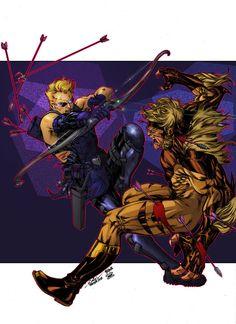 Hawkeye vs Sabretooth