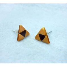 Triforce,fimo, handmade,hecho a mano,polymer clay,earrings,pendientes,video games,video juegos,legend of zelda,trifuerza,triforce,link,nintendo