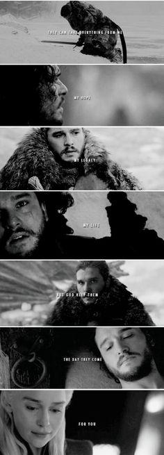 Jon and Dany #daenerystargaryen #JonSnow #Jonerys #GameofThrones #asoiaf