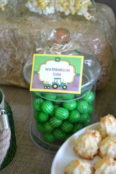 Watermelon gum at a John Deere tractor birthday party! See more party ideas at CatchMyParty.com!