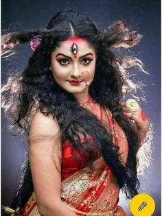 ❤(AdramaLove)(The Unwilling Bride) Indian Goddess Kali, Durga Goddess, Indian Gods, Goddess Art, Indian Art, Kali Hindu, Kali Shiva, Shiva Shakti, Aghori Shiva