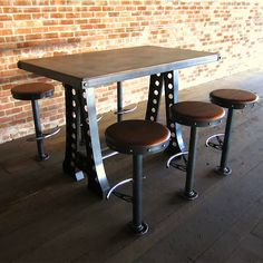 The Confidential Secrets for Break Room Table and Chairs Industrial Bar Stools, Vintage Industrial Furniture, Unique Furniture, Table Furniture, Furniture Design, Furniture Stores, Custom Furniture, Bar Stool Chairs, Table And Chairs