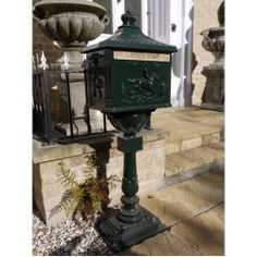 Features: Constructed from durable cast aluminium Features lockable door to keep your mail safe Product Type: Post Mounted Letter Box Mount Type: Pos Victorian Era, Victorian Fashion, Post Box Wall Mounted, Vintage Mailbox, Victorian Mailboxes, Mulberry Bush, Hazelwood Home, Pedestal, Contemporary Design